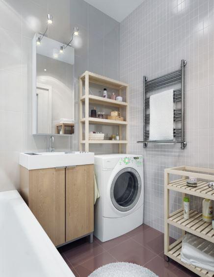 Ideas para baños modernoscon lavarropas