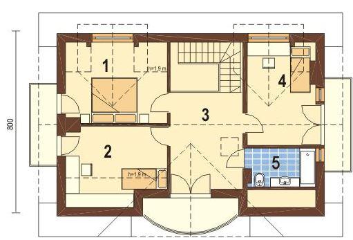 Modelos de casas con balcon y chimenea
