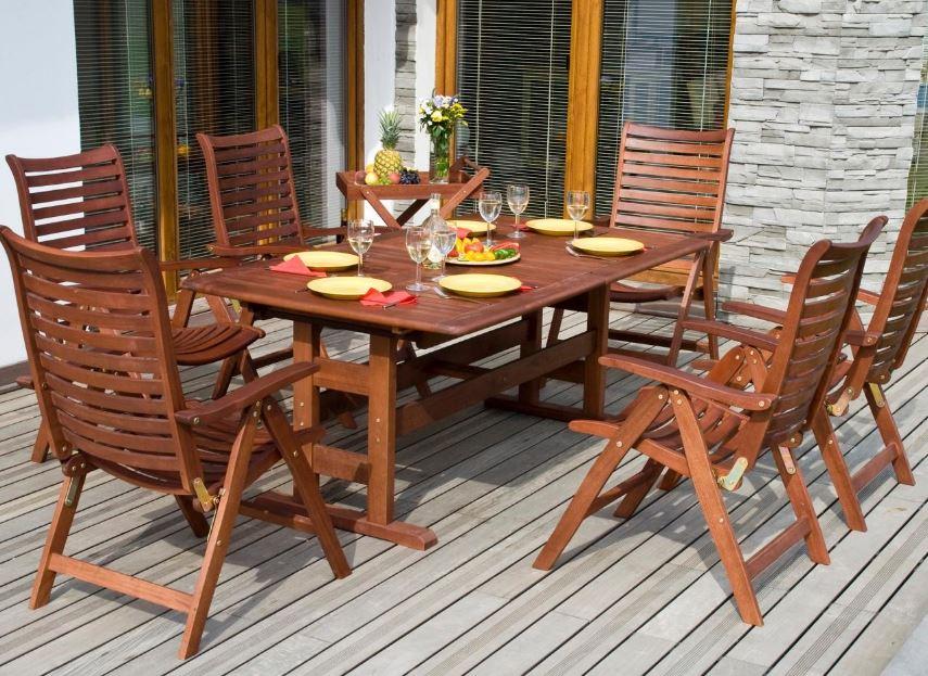 Muebles para jardin exterior for Muebles de madera para patio