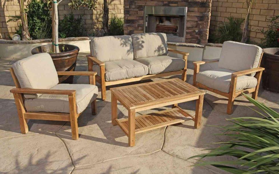 Muebles para jardin exterior for Muebles de terraza madera