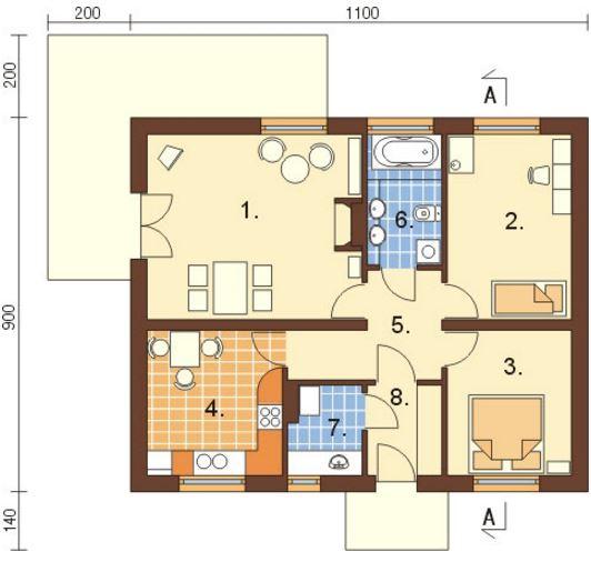 Plano de casa de 100 metros cuadrados
