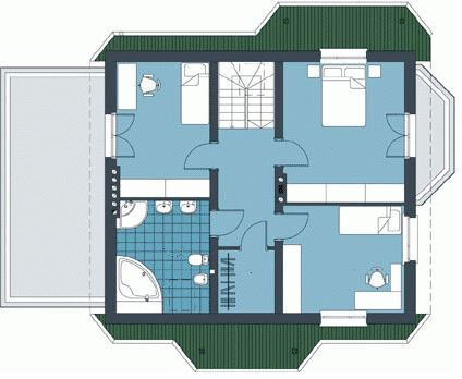 Plano de casa de 14 x 9 metros