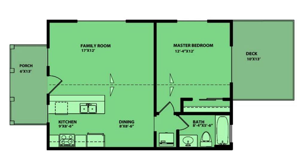 Casa de 60 metros cuadrados for Piso 60 metros cuadrados