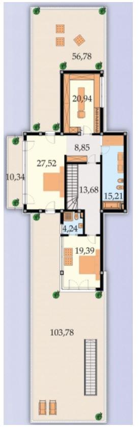 Plano de casa pileta subsuelo