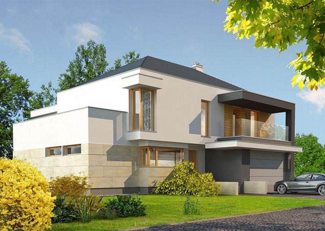 Casa de 2 pisos con cochera doble for Planos de casas de 2 pisos