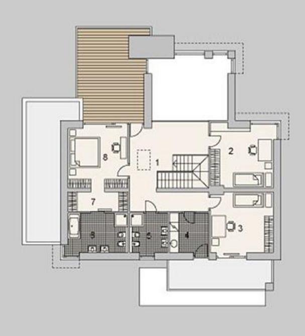 planta alta con 3 dormitorios