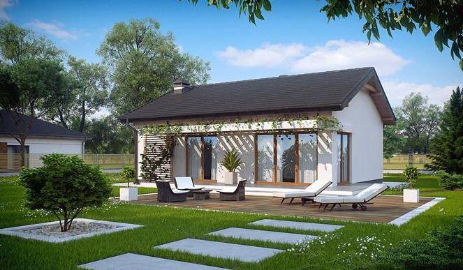 Casa de un piso con techo de chapa