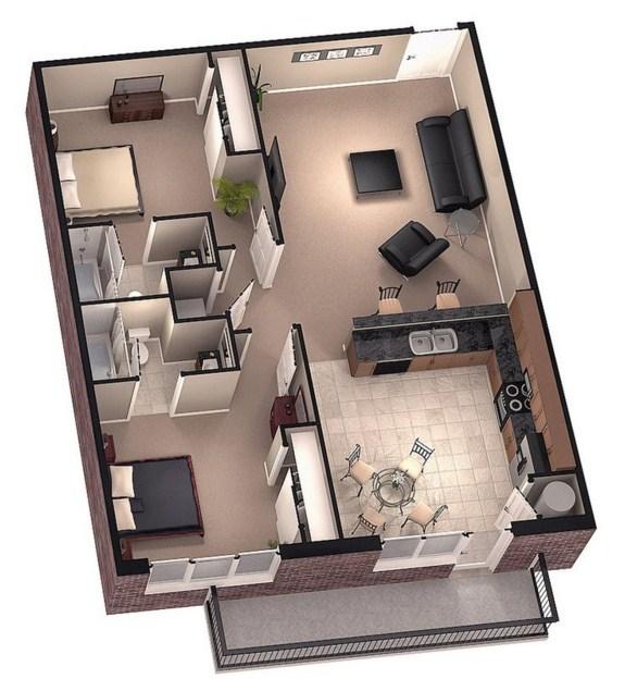 Como distribuir 70 metros cuadrados - Como sacar los metros cuadrados de una habitacion ...