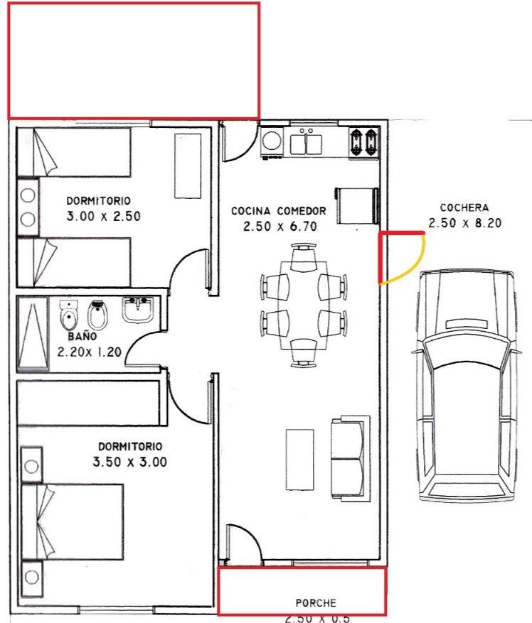 Como hacer distribuci n casa 80 metros cuadrados for Casas modernas 80 metros cuadrados