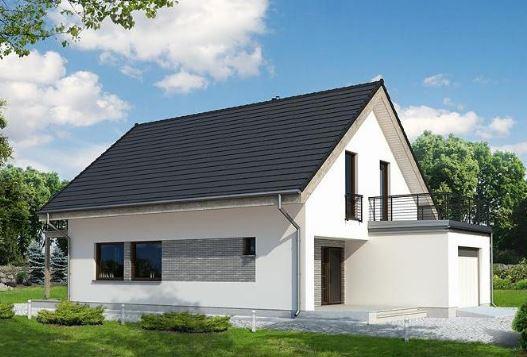 Fachadas de casas de dos pisos con techo a dos aguas