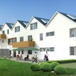Modelo de fachadas de casa en barrios comunes