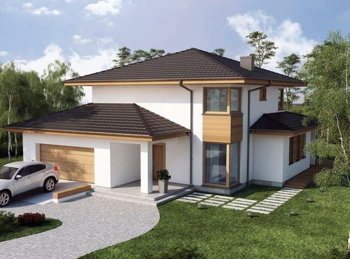 Fachadas de casas for Modelos de techos para casas de dos pisos