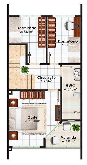 Modelos de duplex economicos de 3 dormitorios