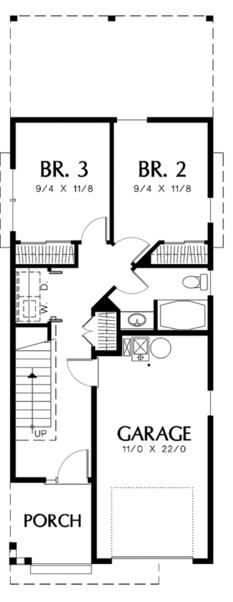 Planos de casa de 4 m de ancho por 12 de largo