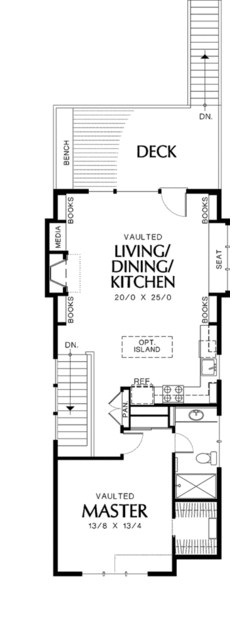 Planos de casa de 4 metros de ancho por 12 de largo