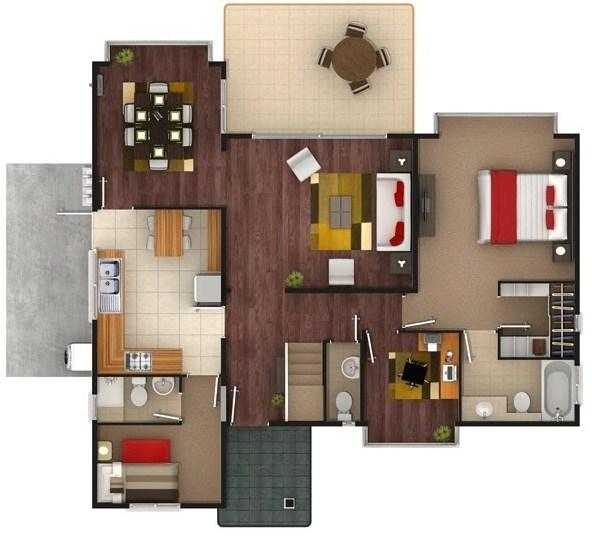Planos de casas de dos pisos de 100 metros cuadrados for Construir casas modernas