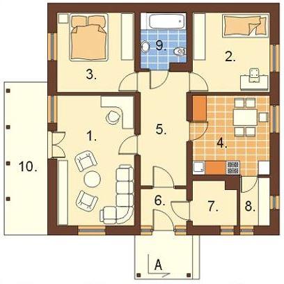 Planos casas de 1 dormitorio - Piso de 60 metros cuadrados ...