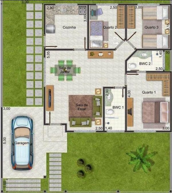 modelos de casas de 8x10 metros. Black Bedroom Furniture Sets. Home Design Ideas