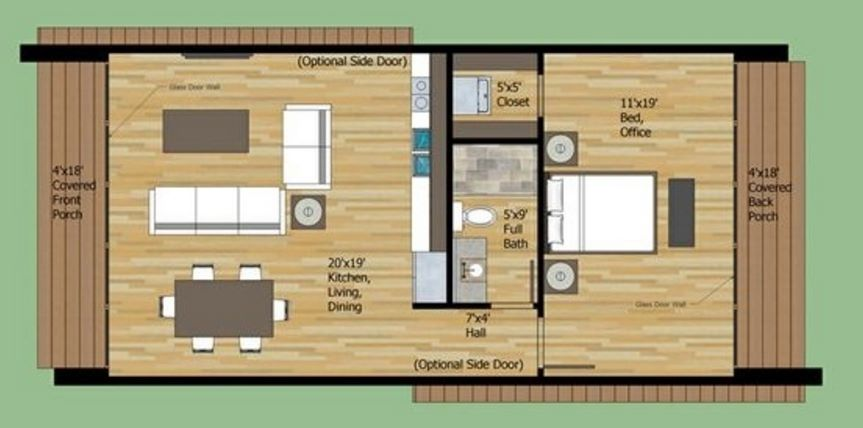 Como construir en 40 metros cuadrados for Decoracion de apartamentos de 50 metros