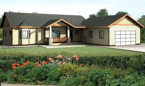 Casas construidas en terrenos en desnivel