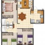 Diseños arquitectonico de casa en terreno de 8 x 20 metros