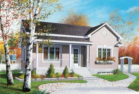 Casas pequenas y bonitas de un piso techadas de tejas for Casas chicas pero bonitas