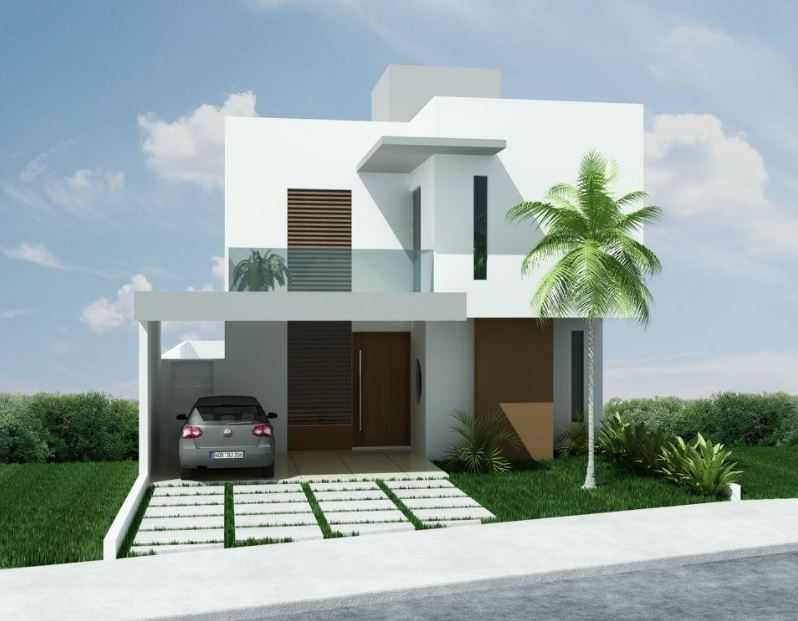 fachadas de casas de 8 metros de frente 10 de largo