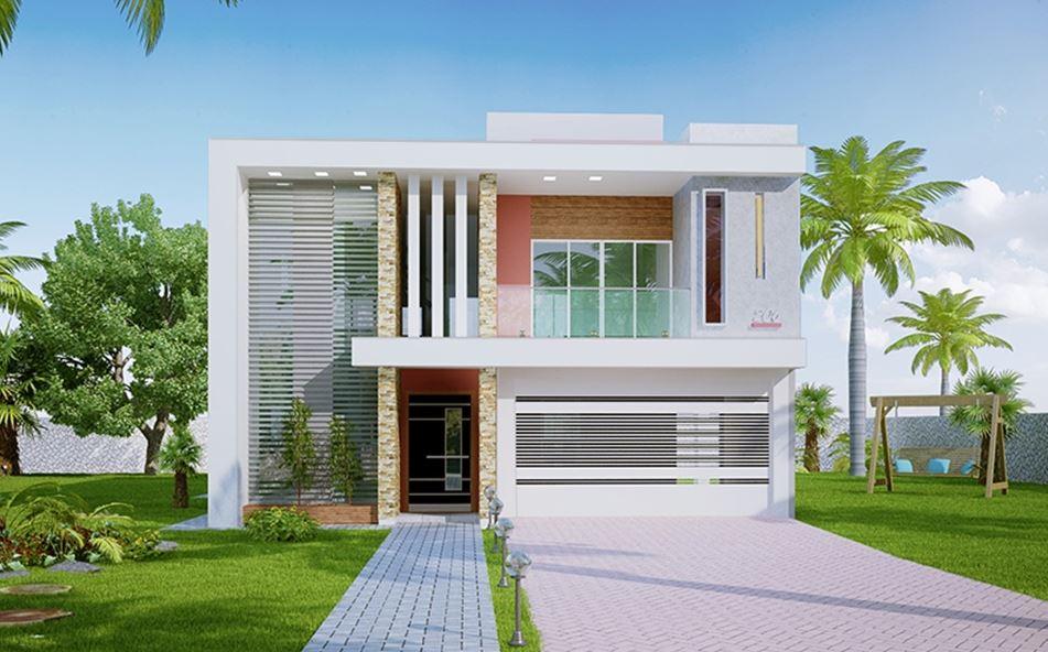 Fachadas de casas Fachadas para casas de dos plantas