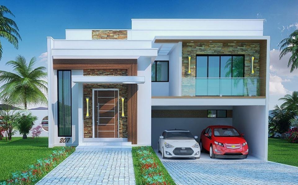 Fachadas de casas modernas de 8 metros de frente 10 de largo
