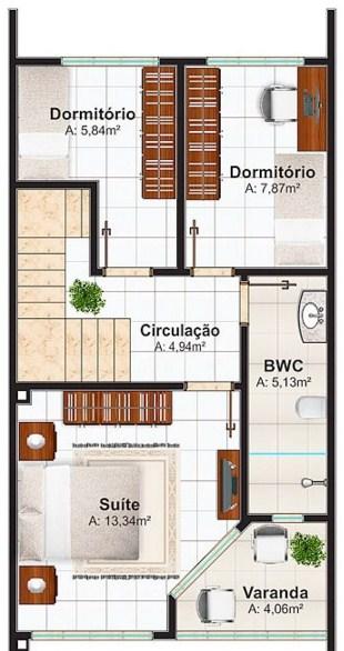 Planos de casas modernas planos de casas - Planos de casas alargadas ...