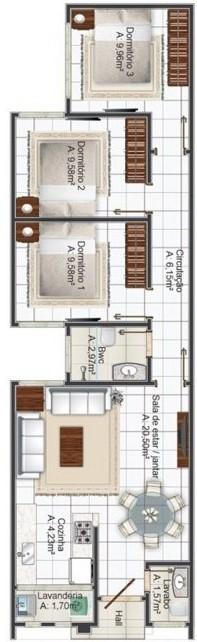 Planos de casa de 6 metros de ancho x 14 de largo