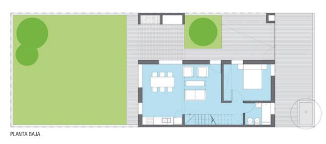 Planos de duplex 4 metros de frente y 6 metros de largo