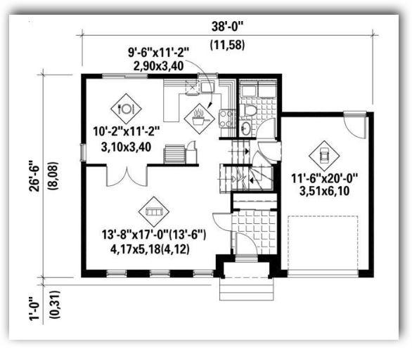 casas en 130 metros cuadrados