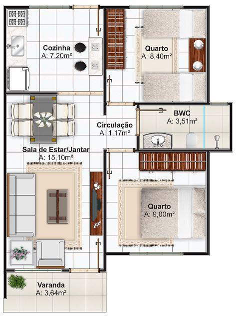 Maquetas de casas en escala con medidas