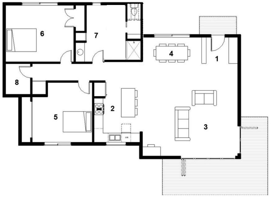 Planos casas de 2 dormitorios planos de casas for Modelos de casas medianas