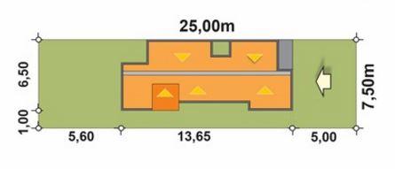 Planos de casas modernas 7x15 metros