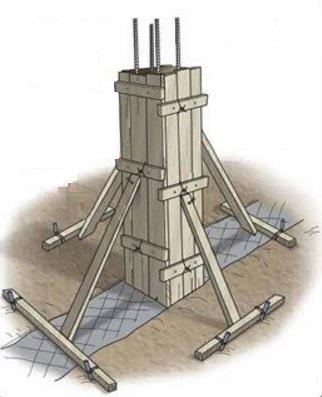 Columnas para edificar tres pisos