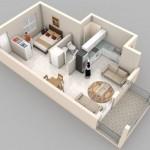 Cuantos metros cuadrados tiene que tener un departamento de 2 ambientes
