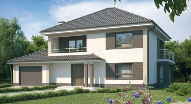 Fachadas de casas bonitas de 2 plantas