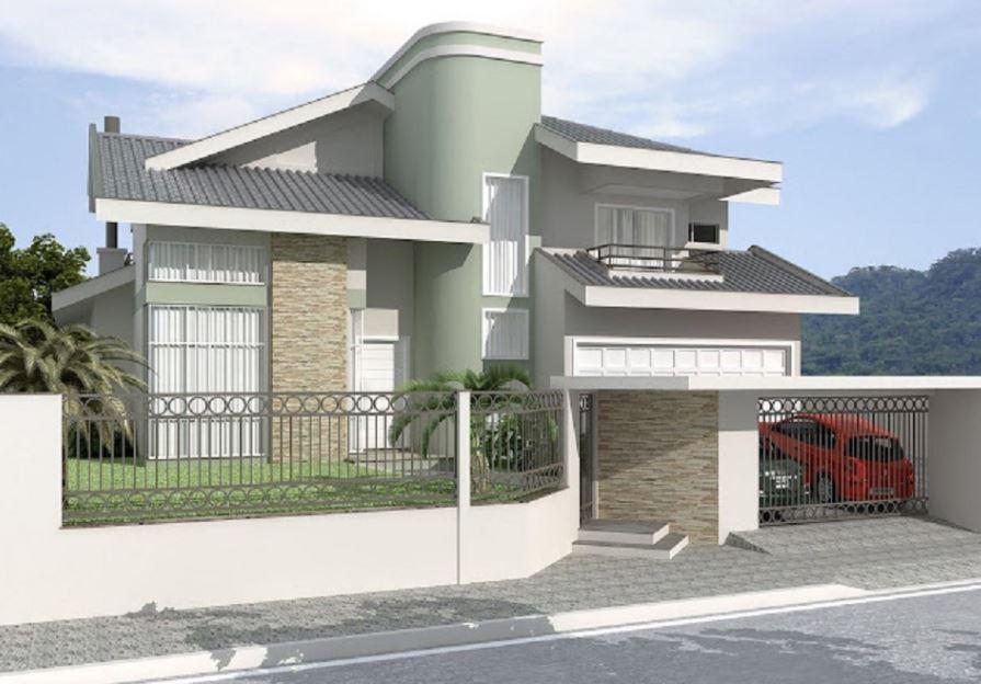 Fachadas de casas de 2 niveles