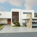 Fachadas de casas de 2 plantas