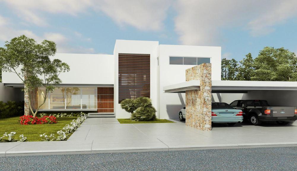 Fachadas de casas de 2 pisos minimalita