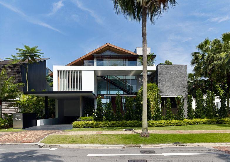 Fachadas de casas de 2 pisos