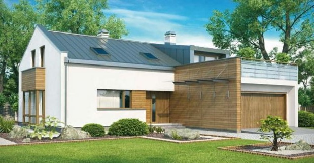 Fachadas de casas de 2 plantas con garage
