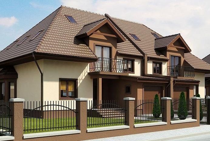 Fachadas de casas de 2 plantas con jardin