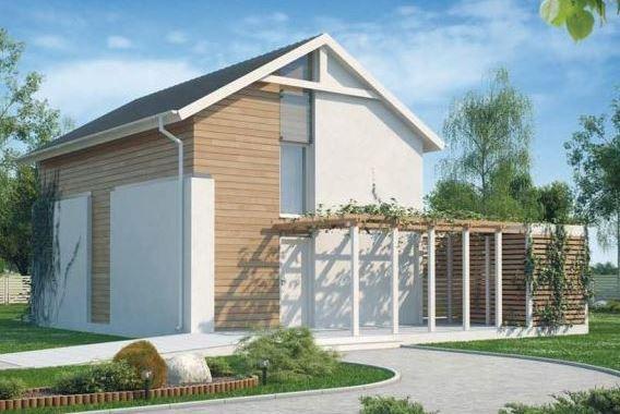 Fachadas de casas de 2 plantas con techo a dos aguas
