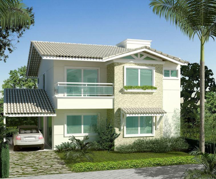 Las fachadas mas bonitas de casas americanas for Fachadas para casas de dos plantas
