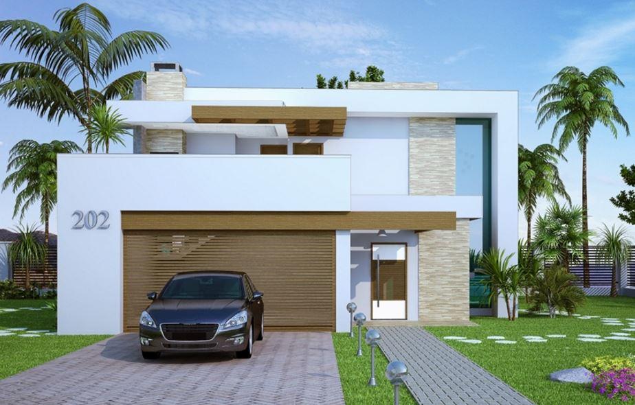 Fachadas de casas de 2 plantas minimalist