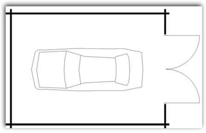 Medida ideal garage 1 auto