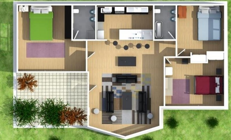 de casas de 3 dormitorios en guatemala de terraza